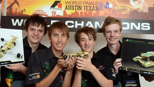 Ben Marshall, Casey Shevlin, Dylan Sexton and Sam Young after the awards. PICTURE: KATE HEALY
