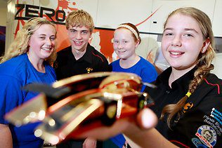 Pine Rivers Super Geeks race to finals of mini F1 contest